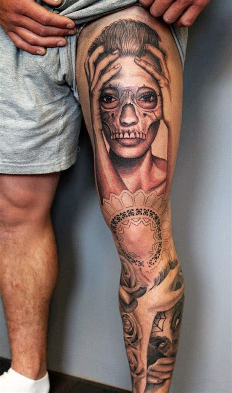 thigh tattoos for men 40 remarkable leg tattoos for