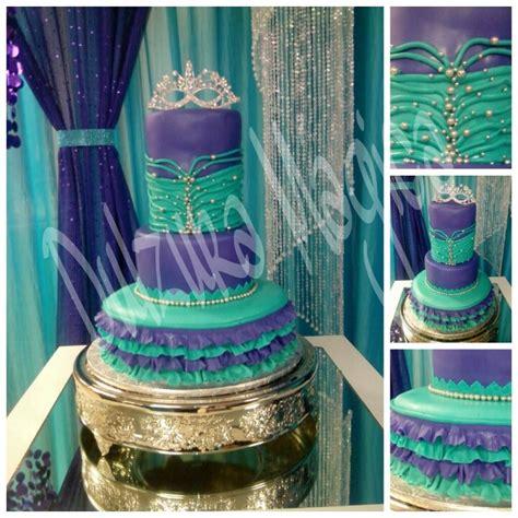 quinceanera themes purple purple and teal quincea 241 era cake quincea 241 era pinterest