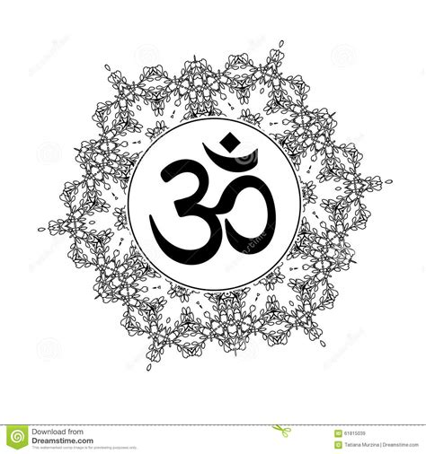 diwali om symbol with mandala stock vector image 61815039