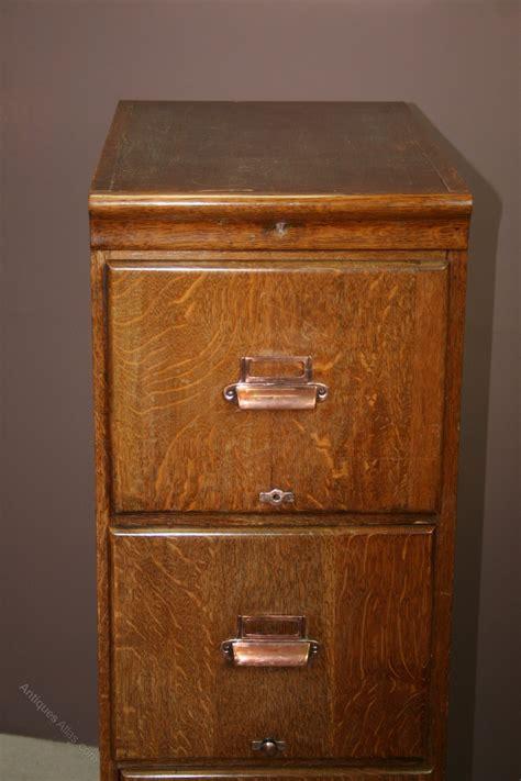 1920's Oak 4 Drawer Filing Cabinet   Antiques Atlas