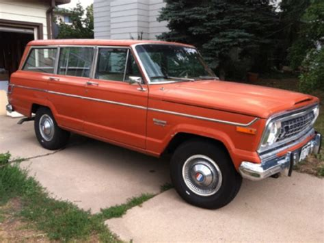 jeep wagoneer for sale 1976 jeep wagoneer 4 215 4 bring a trailer