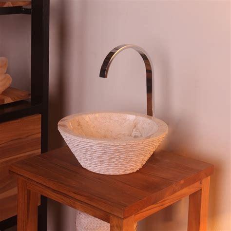 aufsatzwaschbecken marmor marmor waschbecken tower 30 cm creme