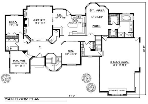 2600 sq ft house plans plan 64195 2 600 sq ft dream home floorplans pinterest