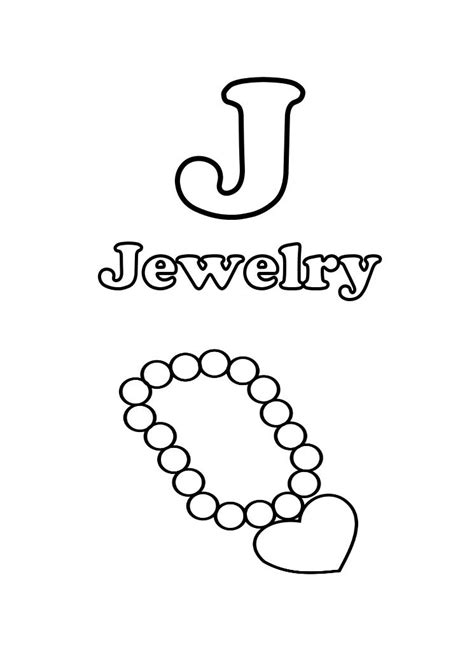 printable coloring pages jewelry letter j for jewelry printable coloring pages for