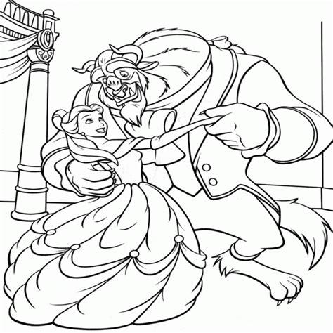 dibujos infantiles imprimir cuentos infantiles la bella y la bestia para colorear