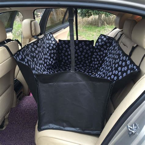 Pet Travel Hammock Seat Cover by Oxford Paw Pattern Car Pet Dogs Rear Back Seat Covers