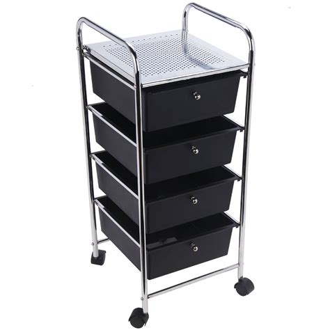 Drawer Trolley by 4 Drawer Trolley Black Lassic Everything For Your Home
