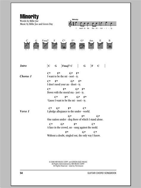 minority sheet by green day lyrics chords 94115