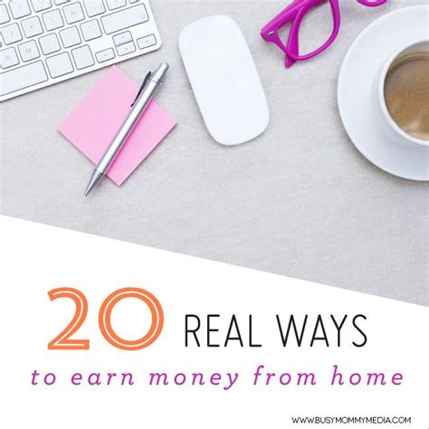 20 real ways to earn money from home legit work at home