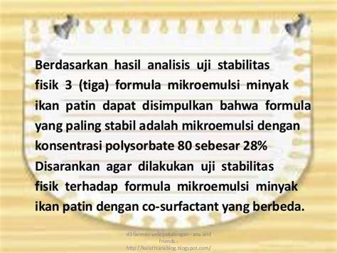 Minyak Ikan Patin ppt formulasi mikroemulsi minyak ikan patin tekfar