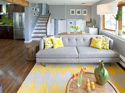 gray and yellow sofa photos hgtv