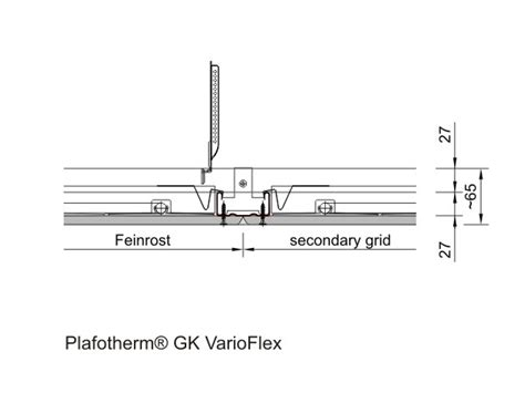lindner decken primary and secondary grid clip in heat conducting profiles