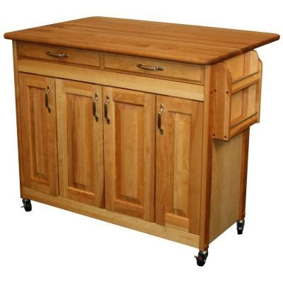 homedepot kitchen island catskill craftsmen 44 3 8 in butcher block kitchen island