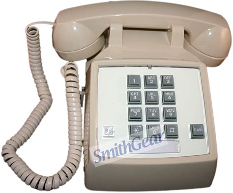 Cortelco Desk Phone by Cortelco Itt 2500 Corded Desk Phone W Flash Ringer Light