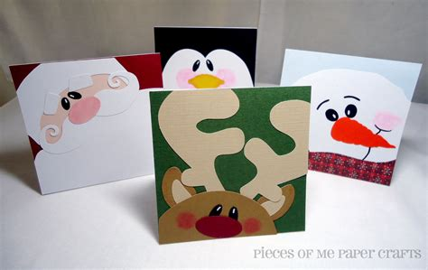 Paper Craft Cards - pieces of me scrapbooking paper crafts winter faces