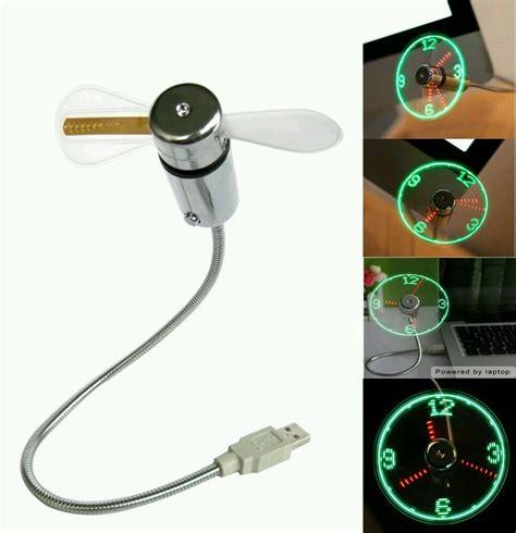 office desk gadgets usb led clock fan cool office gadget desk