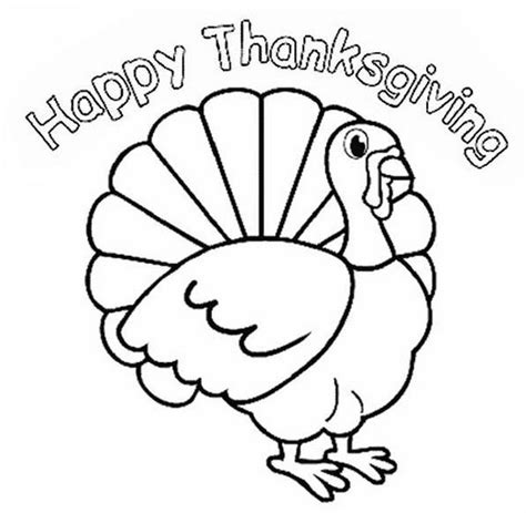 happy thanksgiving turkey coloring page coloring book