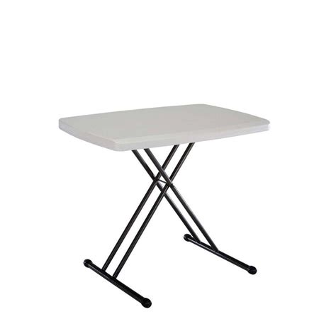 Lifetime Folding Table by Lifetime Almond 30 In X 20 In Personal Folding Table