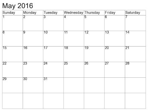 may 2016 weekly printable calendar blank templates may 2016 blank printable calendar