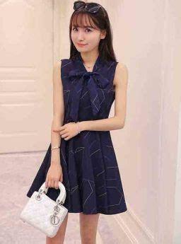 Webe Pita Biru dress biru pita cantik korea 2016 jual model terbaru