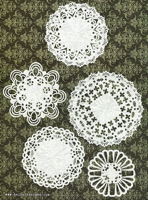 Paper Punch Craft Designs - diy doilies use punches to cut out the designs in folded