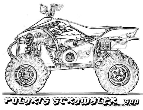 Coloring Page 4 Wheeler by Cool Four Wheeler Drawing Galleryhip The