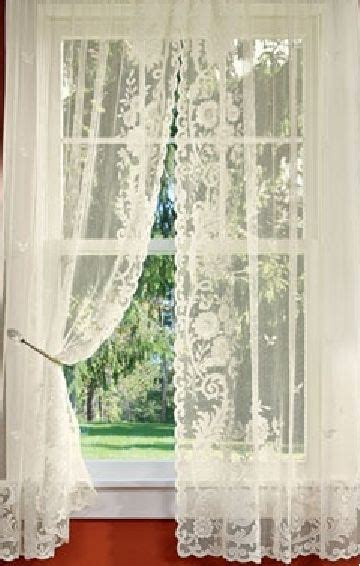 lace bedroom curtains floral point lace rod pocket curtains via country