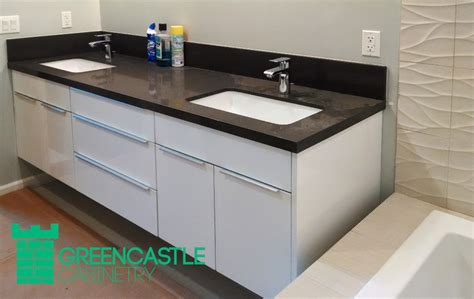 Flat White Cabinets by Greencastle White Flat Panel Cabinet