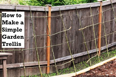 how to build a trellis how to make a rustic pea or bean trellis out of sticks