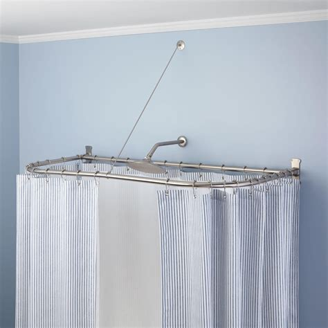 clawfoot bathtub shower curtain rod clawfoot tub shower diverter faucet curtain rod combo