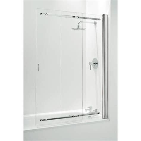 sliding shower screen bath coram framless sliding bathscreen 1065mm chrome ssl2105cuc at plumbing uk