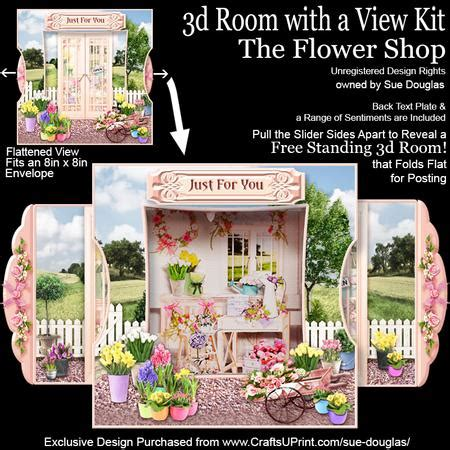add a room kit 3d room with a view kit the flower shop cup598621 422 craftsuprint