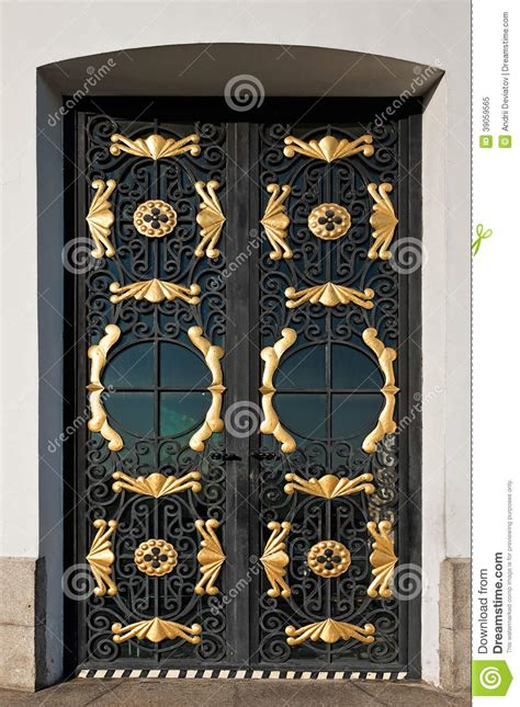 decorative wire grilles doors closed door with decorative grille stock image