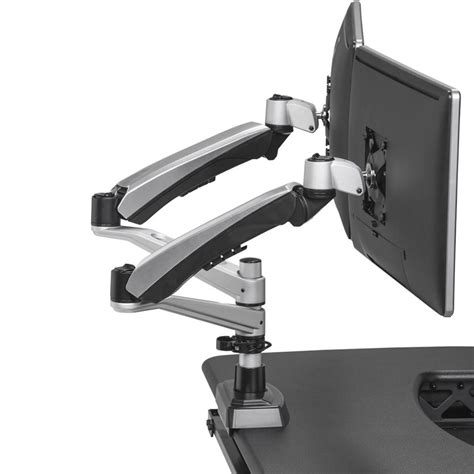 dual monitor arm mount monitor stands varidesk 174
