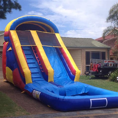 how to make a water slide in your backyard inflatable water slide hire central coast newcastle