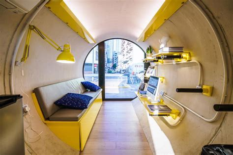 OPod Concrete Pipe Modern Tiny Apartment Hong Kong 7