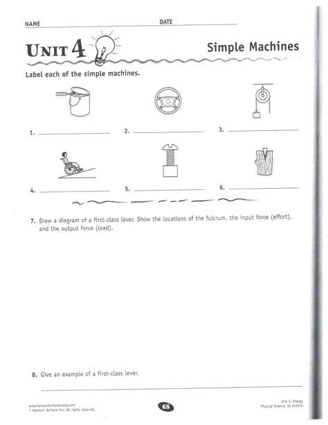 Simple Machine Worksheet by Physical Science Dec 10 14 Mrs Garchow S Classroom