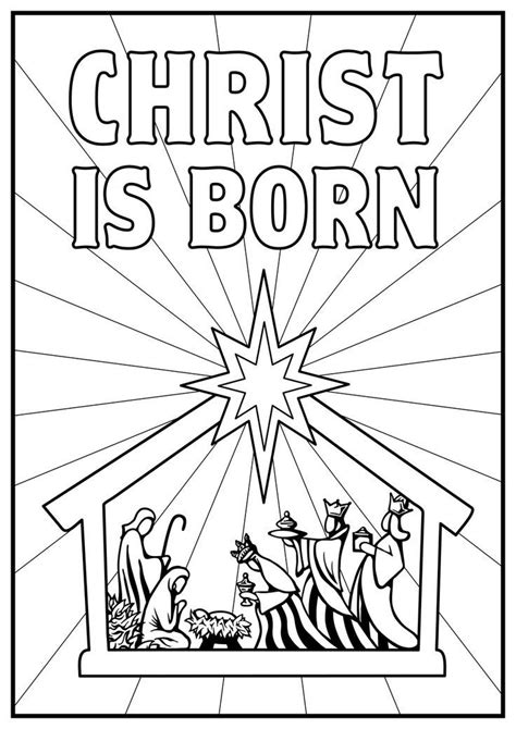 Jesus Is Born Nativity Coloring Page | jesus is born nativity coloring page