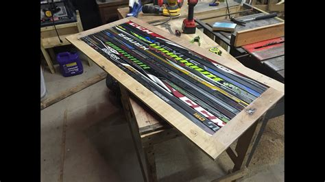 table and stick labelle hockey stick coffee table part 1