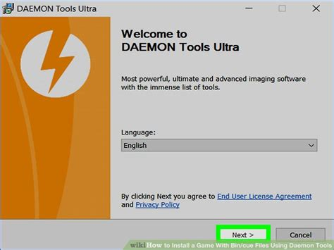 install  game  bincue files  daemon tools