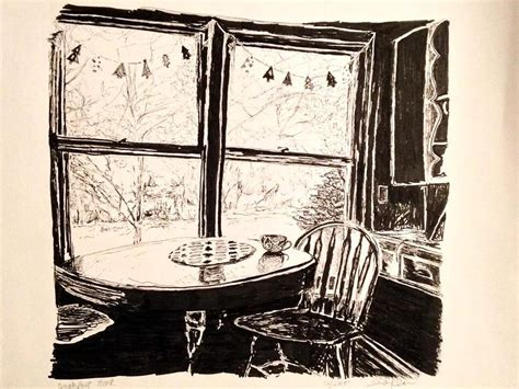 breakfast nook art breakfast nook drawing by sheila klein