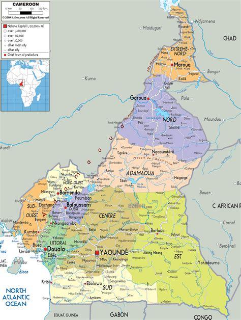 political map of nigeria ezilon maps detailed political map of cameroon ezilon maps