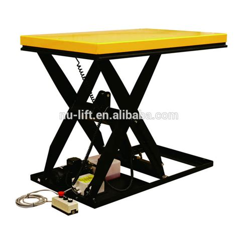 static electric hydraulic scissor lift table 190mm