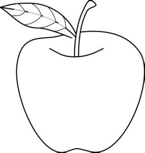 apple sketch clipart