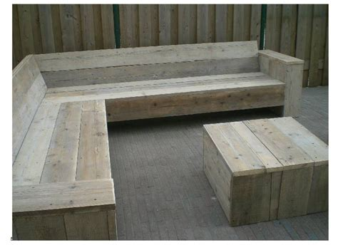 outdoor wooden corner seating garden bench simple design slanted back backyard