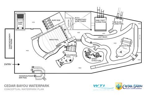 amusement park floor plan cedar bayou water park and aquatic center home