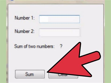 simple visual basic program to add two numbers how to add two numbers in visual basic 6 steps with