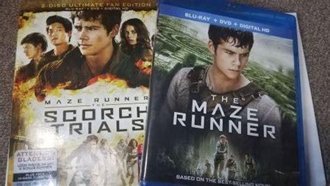 Bluray Maze Runner Part 1 2 free the maze runner maze runner the scorch trials dvd 2 disc set