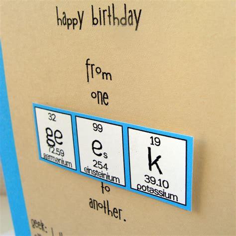geeky card birthday card