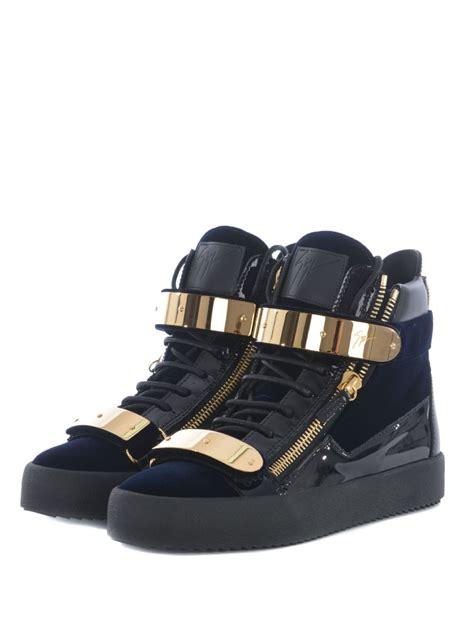 high top sandals giuseppe zanotti giuseppe zanotti glossy sneakers nero